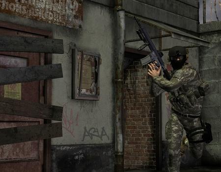 elite: 3d Rendering Elite soldiers in action