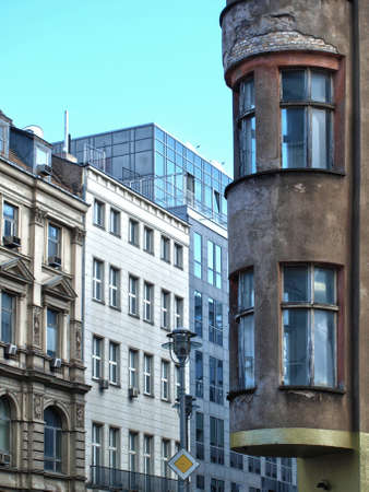 old and new architecture in a Berlin street photo