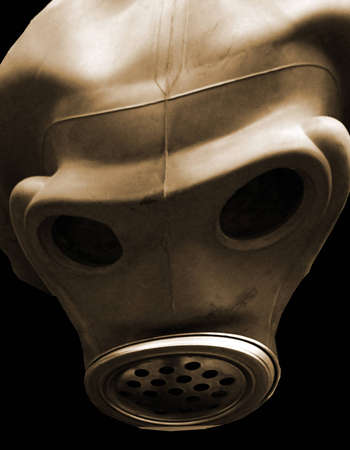 ghostly: gas mask as an illustration, ghostly, extraterrestrial