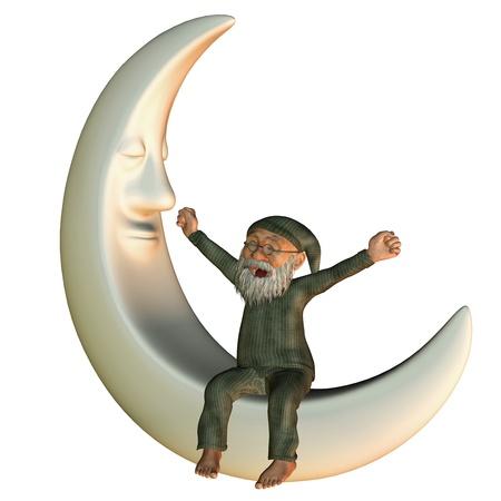 Representación 3D despertar en la luna
