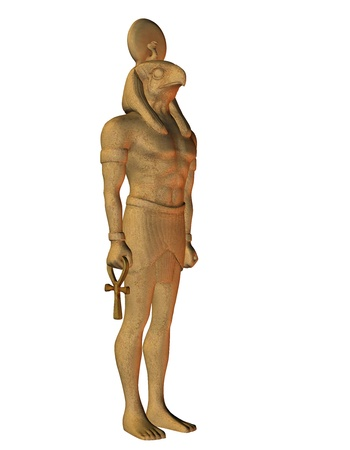 3D Rendering Horus from Egyptian mythology photo