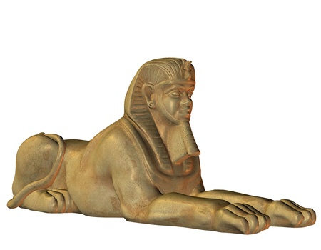 3d lion: 3D Rendering Lion Man from Egyptian mythology