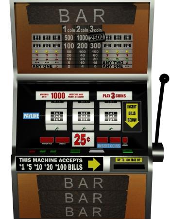 casino machine: 3D rendering of a gaming machine Stock Photo