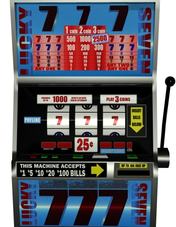 3D rendering of a slot machine photo