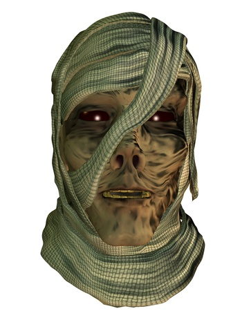 rotting: 3d rendering of a mummy as illustration