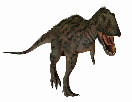 3D rendering of a dinosaur Majungasaurus photo