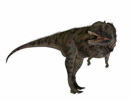 hunters: 3D rendering of a carnivorous dinosaur