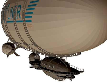 3d rendering of a Zeppelin in detail as an illustration Stock Illustration - 17090120