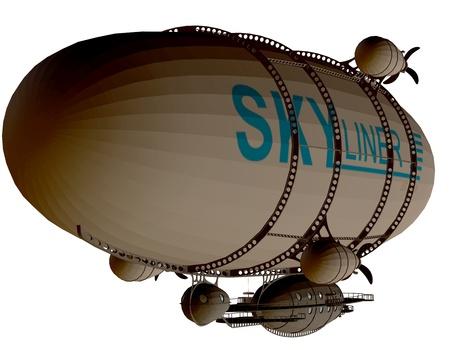 lifter: 3d rendering of a Zeppelin as an illustration
