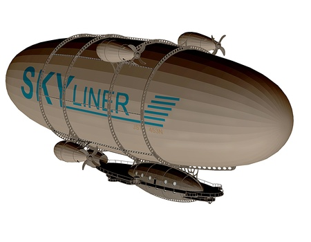3d rendering of a Zeppelin as an illustration Stock Illustration - 17090119