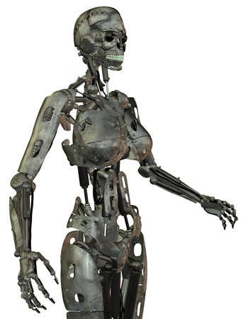 3D rendering of a female robot photo