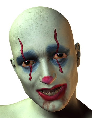 3D rendering of a creepy clown Stock Photo - 17710118