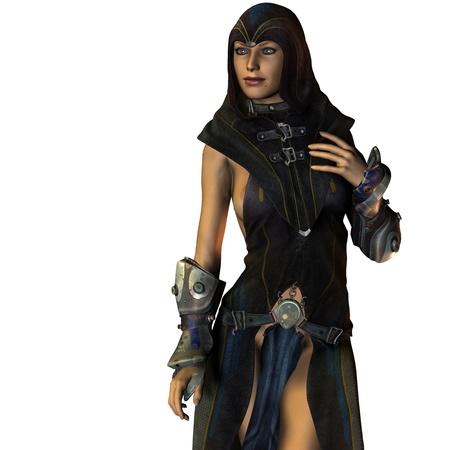 priestess: 3d rendering of a priestess from the dark side Stock Photo