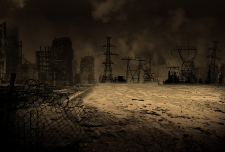 Wallpaper with a doomsday scenario