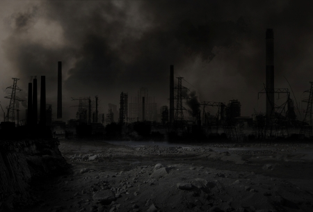 destroyed: Hintergrund eines apokalyptischen Krieg-Szenario Lizenzfreie Bilder