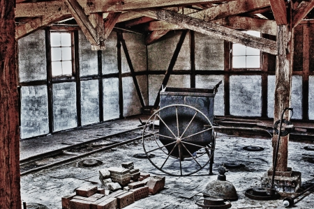 ramshackle: Urban Exploration   Old Brickyard Stock Photo