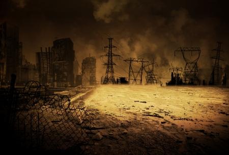 Fond d'image avec un scénario apocalyptique Banque d'images - 20418009