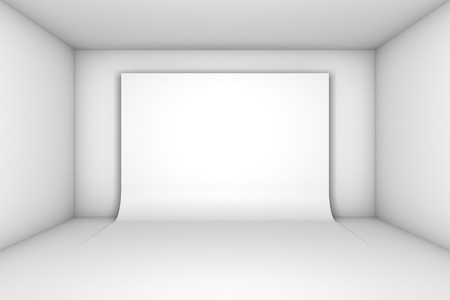 exhibit houses: White background on white room