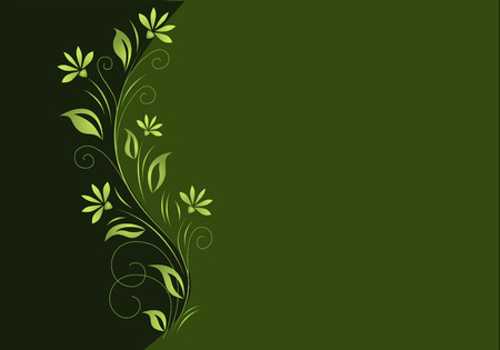 Floral background in green tones
