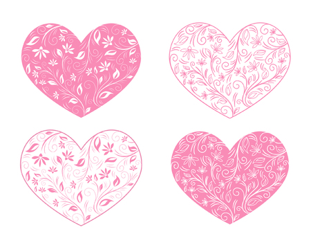 Valentines day decoration set Ilustracja