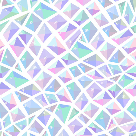 Ice crystal seamless light pattern Vector
