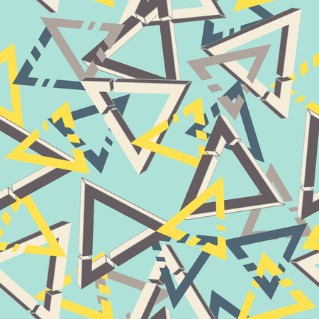 unreal: Unreal geometrical triangles seamless pattern Illustration