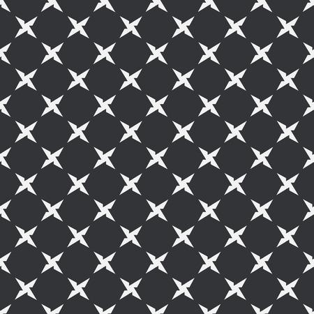 shuriken: Black and white shuriken seamless pattern