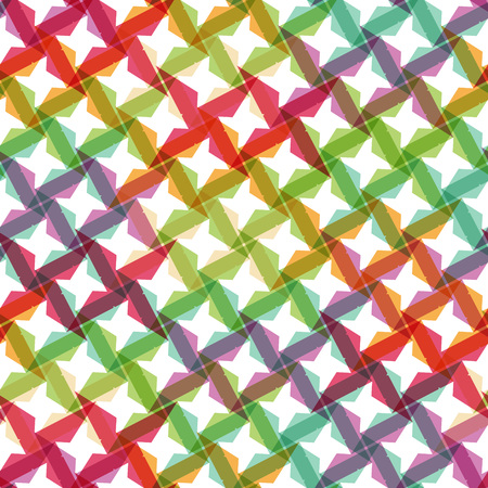 shuriken: Colorful shuriken shape seamles pattern Illustration