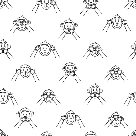see no evil: see no evil, hear no evil, speak no evil monkeys pattern