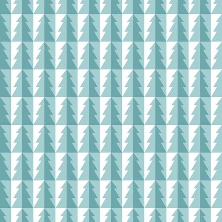 bend: Bend christmas tree tile seamless pattern. Blue version Illustration