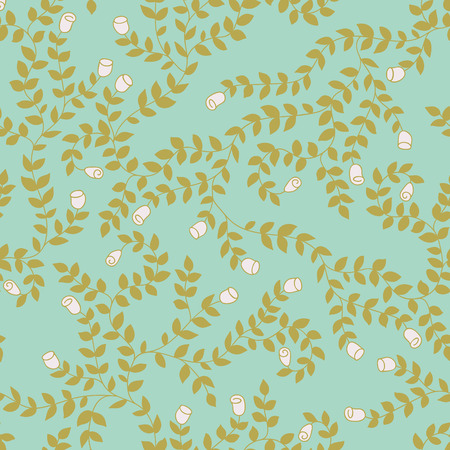 rose bud: Floral wedding seamless pattern with rose bud