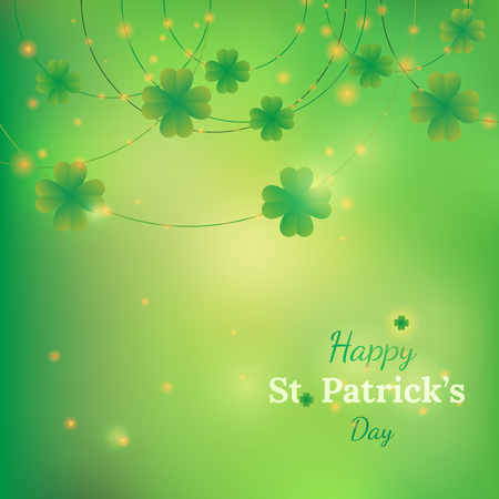 clovers: St. Patricks day vector background with clovers Illustration