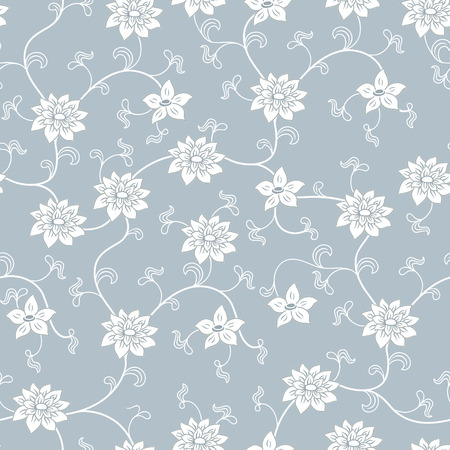 porcelain: chinese porcelain seamless pattern with flowers