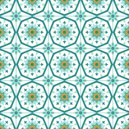 symmetry: Symmetry ornamental islamic tile vector seamless pattern