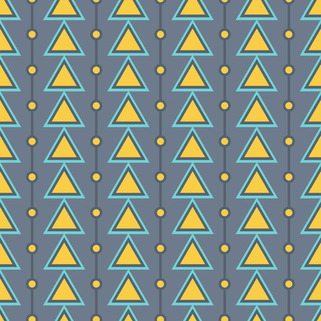 home fashion: Triangle arrow and dots seamless pattern. Can be used for web, print and book design, home decor, fashion textile, wallpaper.