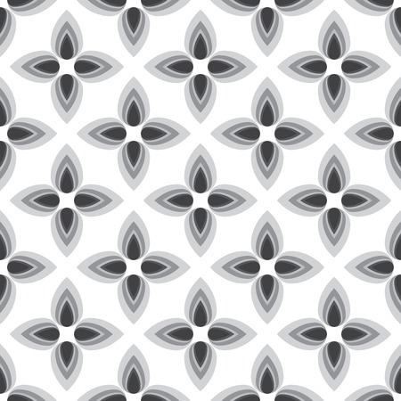 home fashion: Abstract flower monochrome seamless pattern. Can be used for web, print and book design, home decor, fashion textile, wallpaper. Illustration