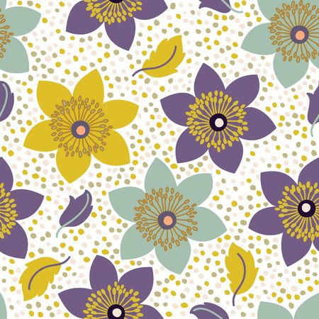 home fashion: Seamless pattern with narcissus flowers. Can be used for web and book design, home decor, fashion textile, wallpaper.