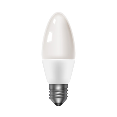 frosted: Frosted glass bulb. Led energy saving lamps. Realistic icon Illustration