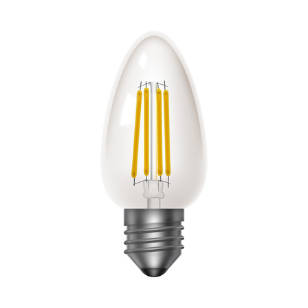 Transparent bulb. Led energy saving lamps. Realistic icon