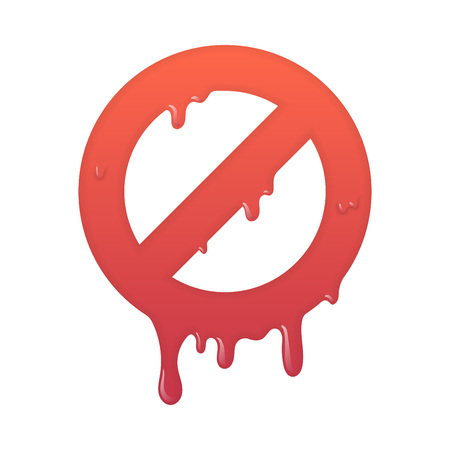 Melting stop icon. Not allowed info symbol illustration