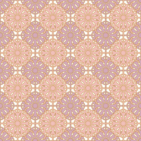 ceramic tiles: Beautiful seamless pattern with abstract pastel flower Illustration