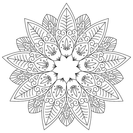 Adult coloring page. black and white for relaxation. Illustration