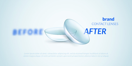 Contact lenses advertising template. Can be used as banner or package