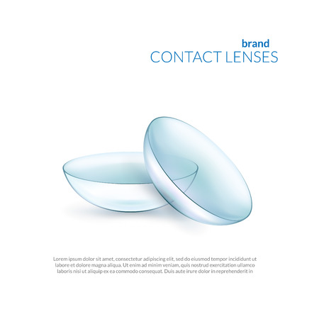 Simple illustration of contact lenses. Banner template Illustration