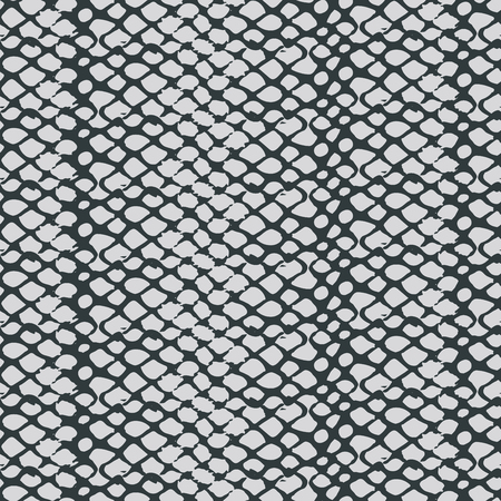 Monochrome snake skin texture seamless pattern