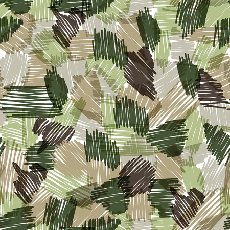 camouflage seamless pattern made by scribble
