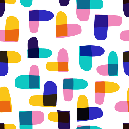 Modern vector abstract seamless geometric with heart shape pattern in scandinavian style.