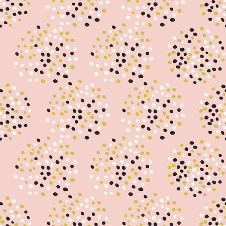 Many dots seamless pattern. Abstract tender design