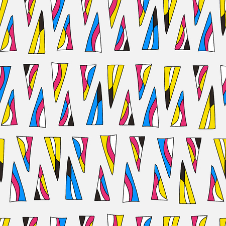 Abstract triangles seamless pattern. Colorful background design Иллюстрация