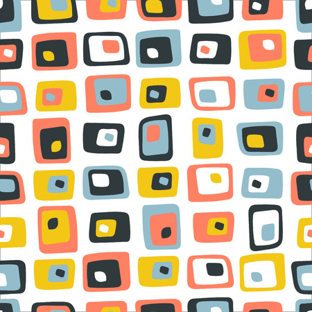 Retro Vintage seamless Pattern made with modern colors